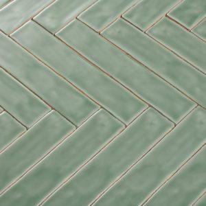Handvorm tegels 5x25 cm APPLE GREEN