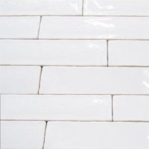 Handvorm tegels 7,5x30 cm GLANS WIT