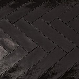 Handvorm tegels 7,5x30 cm MAT ZWART