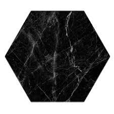 Hexagon Cosmo zwart 20x24 cm